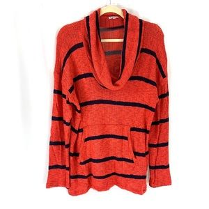 SPLENDID striped cowl neck sweater. Made in USA